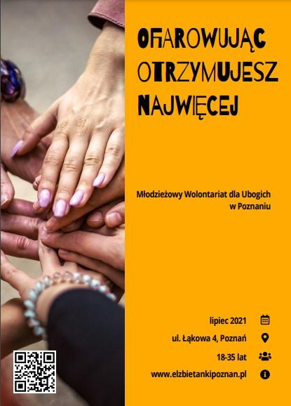 [zaproszenie][wolontariat] Siostry Elżbietanki w Poznaniu zapraszają chętnych wolontariuszy!